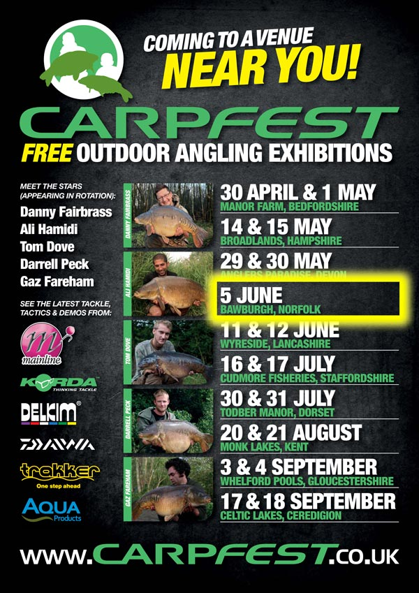 The Korda crew will be attending the NACA Bawburgh Open Day on 5th June 2011