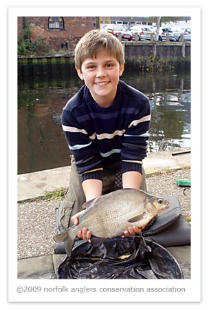 Young Albert with a fine Riverside bream