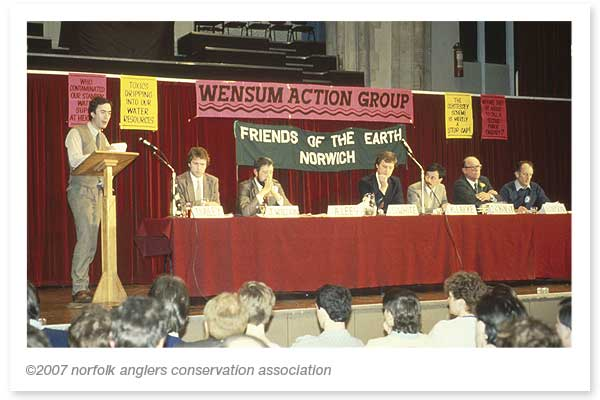 The sitiation resulted in environmentalist and anglers uniting to form the Wensum Action Group